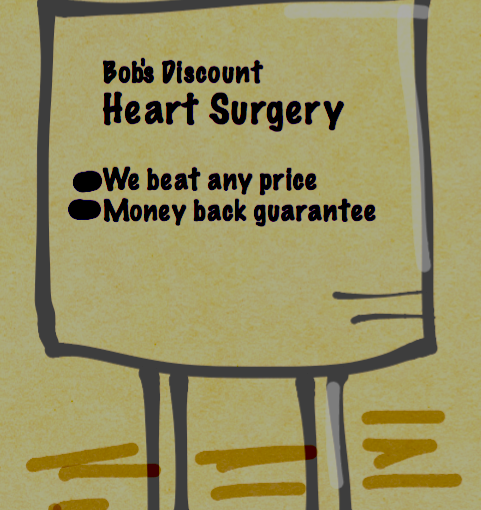 Price Competition-- Bob's Discount Heart Surgery