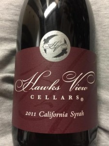 2011 Hawks View Cellars California Syrah